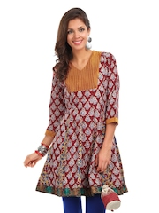 Jaipur Kurti Women Red Block Printed Kurta