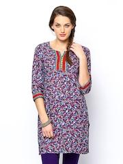 Jaipur Kurti Multicoloured Printed Kurta