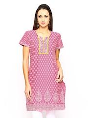 Jaipur Kurti Women Pink Printed Kurta