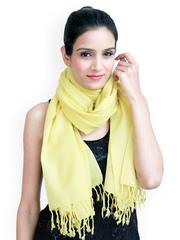 Jaipur Vogue Yellow Woollen Shawl