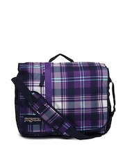 Jansport Unisex Purple Printed Market Street Messenger Bag