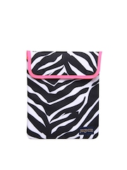 Jansport Women White & Black Zebra Print Tablet Sleeve