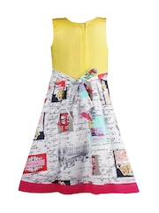 Jazzup Girls Multicoloured Printed A-Line Dress