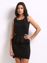 Jealous 21 Black Peplum Dress