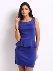Jealous 21 Blue Peplum Dress