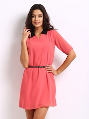 Jealous 21 Coral Red Shift Dress