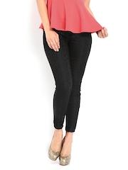 Jealous 21 Women Black Lace Trousers