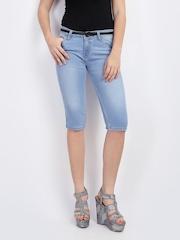 Jealous 21 Women Blue Denim Shorts