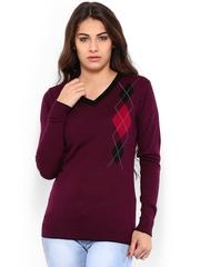 Jealous 21 Women Burgundy Sweater