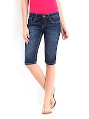 Jealous 21 Women Dark Blue Denim Shorts