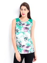 Jealous 21 Women Green Floral Print Top