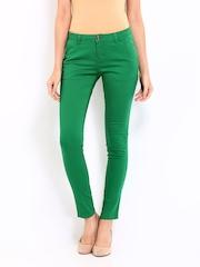 Jealous 21 Women Green Slim Fit Trousers