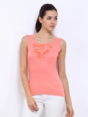 Jealous 21 Women Peach Coloured Tank Top