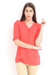 Jealous 21 Women Coral Pink Top