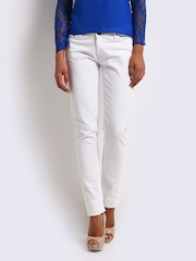 Jealous 21 Women White Hottie Ultra Slim Fit Jeans