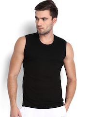 Jockey Men Black Sleeveless T-shirt