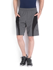 Men Grey Melange Shorts Jockey