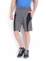 Men Black & Grey Shorts Jockey