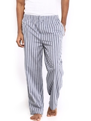 Jockey Men Grey & Blue Striped Lounge Pants 9009-0105