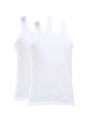 Jockey Men White Pack of 3 Innerwear Vests