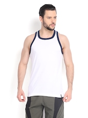 Jockey Men White Sleeveless T-shirt