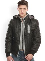 Jogur Men Black Hooded Jacket