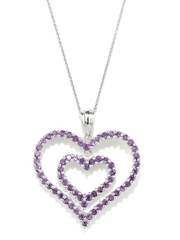 Johareez Silver Heart shaped Pendant with Chain