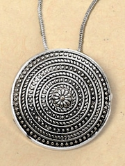 Johareez Women Silver Coloured Pendant