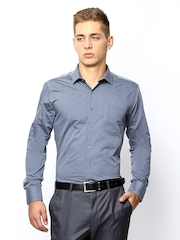 John Miller Men Grey Slim Fit Formal Shirt