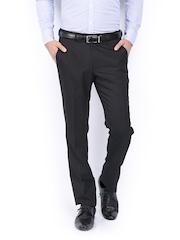 John Miller Men Black Slim Fit Formal Trousers
