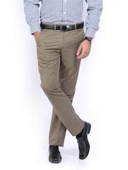 John Miller Men Khaki Slim Fit Trousers