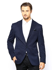 John Miller Men Navy Slim Fit Blazer