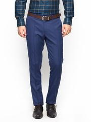 John Players Men Blue Skinny Fit Formal Trousers