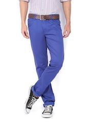 John Players Men Blue Skinny Fit Trousers