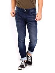 John Players Men Blue Super Skinny Fit Jeans