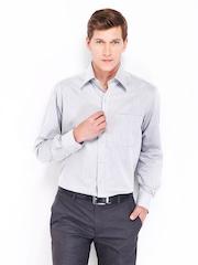 John Players Men Grey Formal Shirt