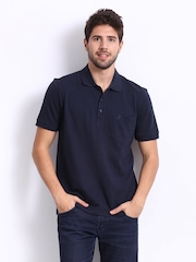 John Players Men Navy Polo T-shirt