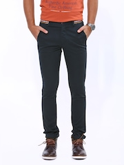 John Players Men Navy Skinny Fit Chino Trousers