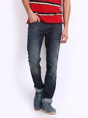 John Players Men Navy Super Skinny Fit Jeans