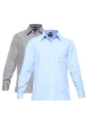 John Players Men Pack of 2 Formal Shirts