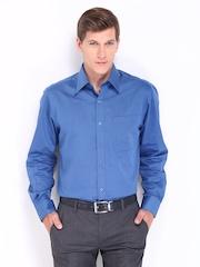 John Players Men Blue Formal Shirt