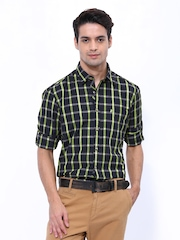 John Players Men Multicoloured Checked Trim Fit Casual Shirt