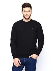 John Players Men Black Sweatshirt