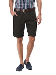 John Players Men Coffee Brown Shorts