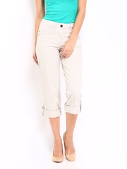 John Rocha by Debenhams Women Light Beige Crop Jeans