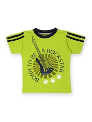 Joshua Tree Boys Lime Green Printed Rock On T-shirt