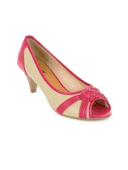 Jove Women Beige Peep toes Pumps