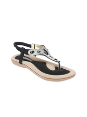 Jove Women Black Sandals
