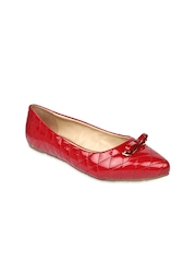 Jove Women Red Flat Shoes