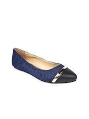 Jove Women Navy Blue Flat Shoes